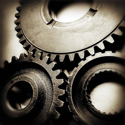 Mechanism Photograph - Cogs by Les Cunliffe
