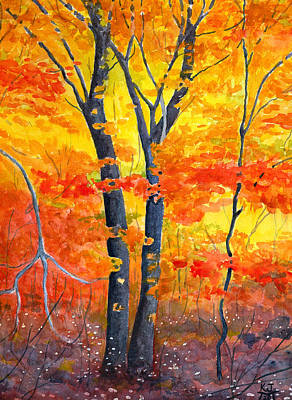 Silver Oak Painting - Color Riot by Katherine Miller