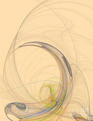 Action Lines Digital Art - Colorful Abstract Background by Odon Czintos
