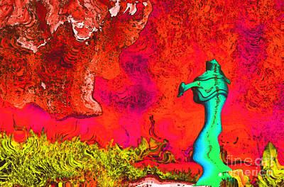 Colorful Fontain Art Print