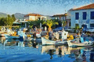 Painting - Colorful Port by George Atsametakis