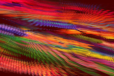 Photograph - Colorful Psychedelic Abstract Fractal Art by Keith Webber Jr