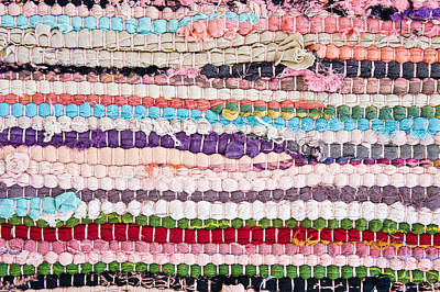Crochet Thread Photograph - Colorful Rug by Tom Gowanlock