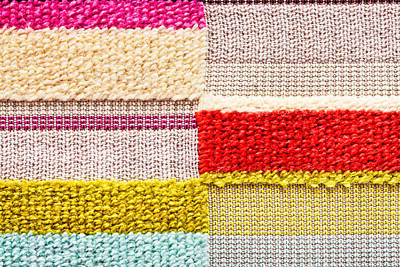 Handmade Photograph - Colorful Textile by Tom Gowanlock