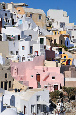 Village Photograph - Colorful Oia by George Atsametakis