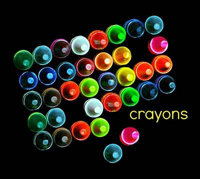 Colorful Wonderful Crayons Print by Diana Angstadt