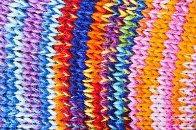 Colorful Wool Art Print
