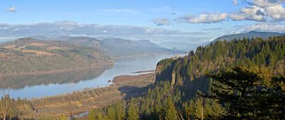 Columbia River Gorge Panorama Oregon. Original by Gino Rigucci