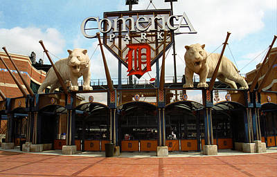 Detroit Tigers Art Photograph - Comerica Park - Detroit Tigers by Frank Romeo