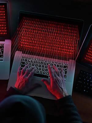 Computer Hacking Art Print by Tek Image