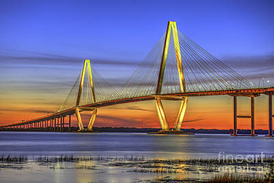 Photograph - Cooper River Bridge by Dale Powell