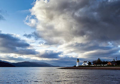 Photograph - Corran Lighthouse by Gary Eason