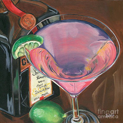 Party Painting - Cosmo Martini by Debbie DeWitt