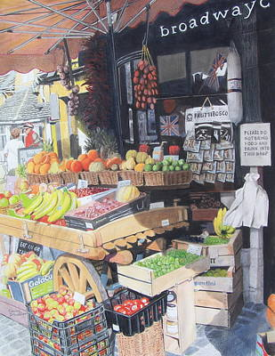 Grapefruit Mixed Media - Cotswold Deli by Constance Drescher