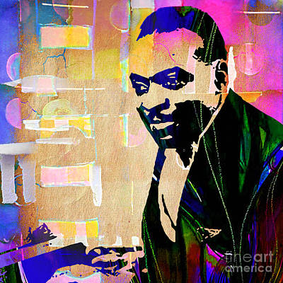 Count Basie Collection Art Print by Marvin Blaine