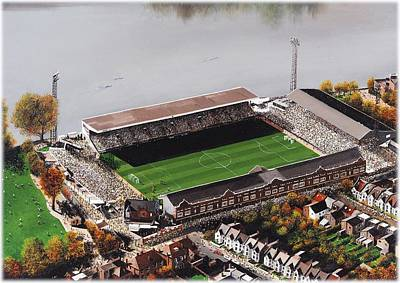 Art Mobile Painting - Craven Cottage - Fulham by Kevin Fletcher