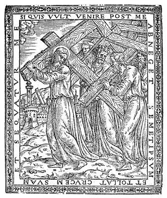 Jesus Drawing - Crucifixion Of Christ by Granger