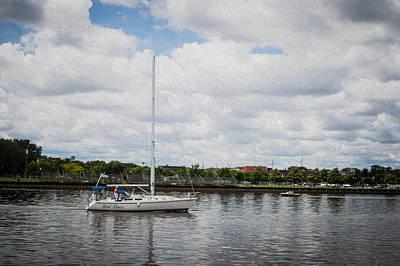 Cruising The Saginaw River Art Print by Tom Causley