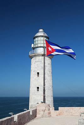 Castillo Photograph - Cuba, Havana, Castillo De Los Tres by Walter Bibikow