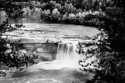 Queen Rights Managed Images - Cumberland falls BW Royalty-Free Image by Alexey Stiop