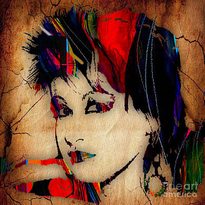 Girl Mixed Media - Cyndi Lauper Collection by Marvin Blaine