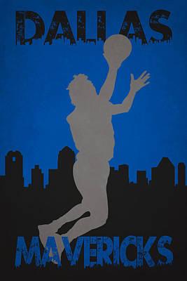 Dallas Mavericks Print by Joe Hamilton