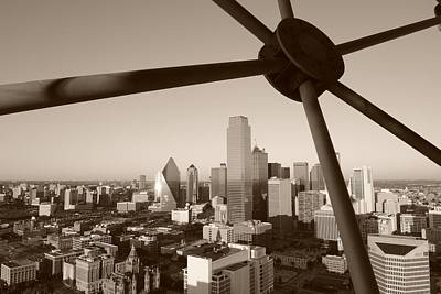 Dallas Skyline Photograph - Dallas Skyline by Christian Heeb
