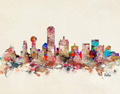 Painting - Dallas Texas Skyline by Bri B