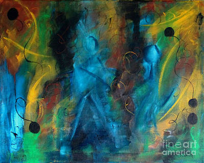 Painting - Dance Party by Karen Day-Vath