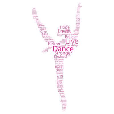 Dancer Live, Dance, Dream Art Print