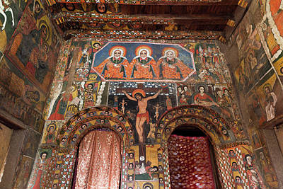 Old Testament Trinity Photograph - Debre Berhan Selassie Church In Gonder by Martin Zwick
