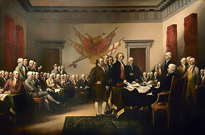 Thomas Jefferson Painting - Declaration Of Independence by Mountain Dreams