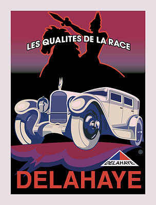 Advertising Digital Art - Delahaye by Gary Grayson