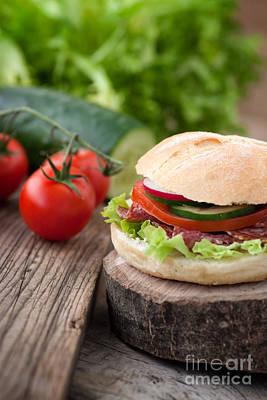 Mythja Photograph - Delicious Sandwich by Mythja  Photography