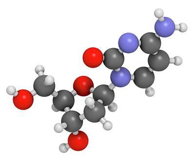 Nucleoside Photograph - Deoxycytidine Nucleoside Molecule by Molekuul
