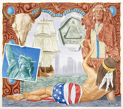 Painting - Destruction Of Native America by Rich Milo