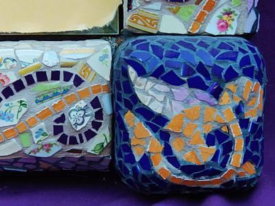 Detail Mosaics Art Print by Charles Lucas