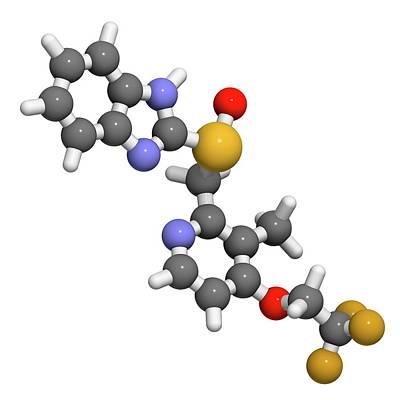 Dexlansoprazole Drug Molecule Art Print