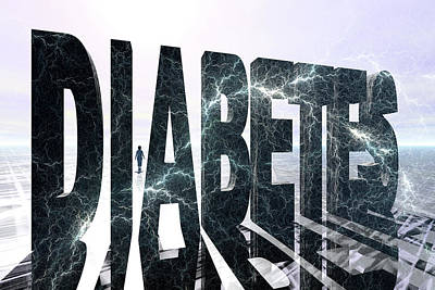 Lightning D Photograph - Diabetes by Carol & Mike Werner