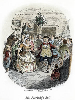 Ball Gown Drawing - Dickens Christmas Carol, 1843 by Granger