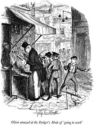 Dickens Painting - Dickens Oliver Twist by Granger