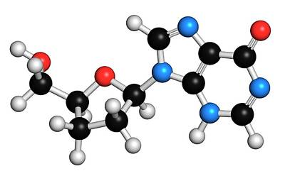 Chemical Photograph - Didanosine Hiv Drug Molecule by Molekuul