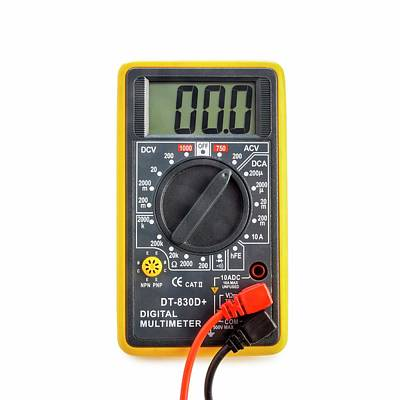 Electronics Photograph - Digital Multimeter by Science Photo Library