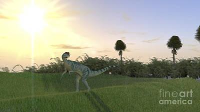 Digital Art - Dilophosaurus Hunting For Its Next Meal by Kostyantyn Ivanyshen