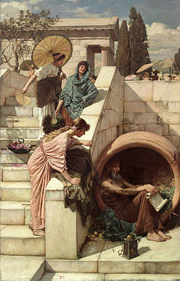 Talking Painting - Diogenes by John William Waterhouse