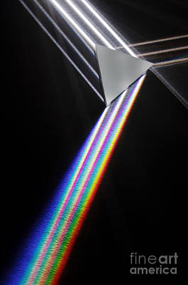 Dispersion Of White Light Art Print by GIPhotoStock
