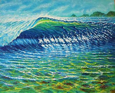 Painting - Dolphin Surf by Joseph   Ruff