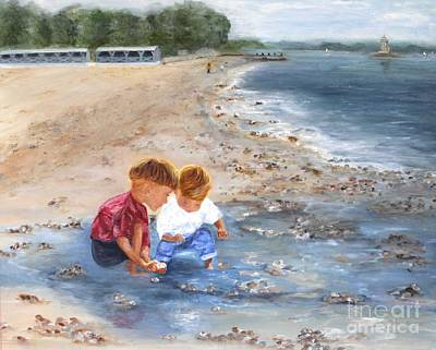 Painting - Down By The Bay by Tracey Peer