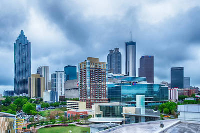 Pineapple - Downtown Atlanta Georgia USA skyline by Alex Grichenko