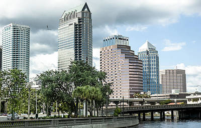 Tampa Skyline Photograph - Downtown Tampa 2 by Norman Johnson